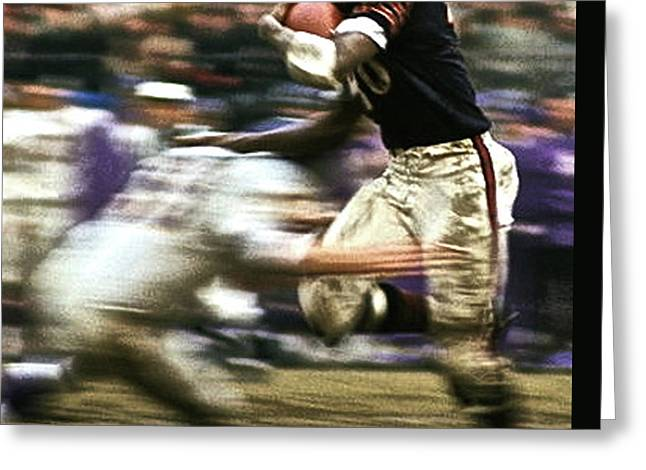 Gale Sayers, The Kansas Comet, Chicago Bears Greeting Card by Thomas Pollart