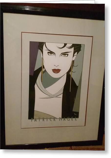 Galerie Michael Greeting Card by Patrick Nagel