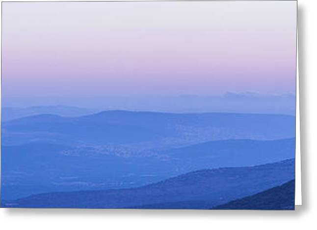 Greeting Card featuring the photograph Galilee Mountains Sunset by Yoel Koskas