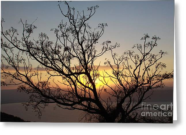 Galilee Sunset Greeting Card