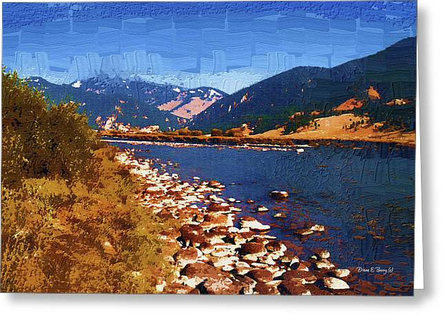 Gallatin River Greeting Cards - Gallatin RIver Dreams Greeting Card by Diane E Berry