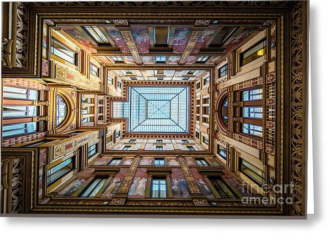 Galleria Ceiling Greeting Card by Inge Johnsson