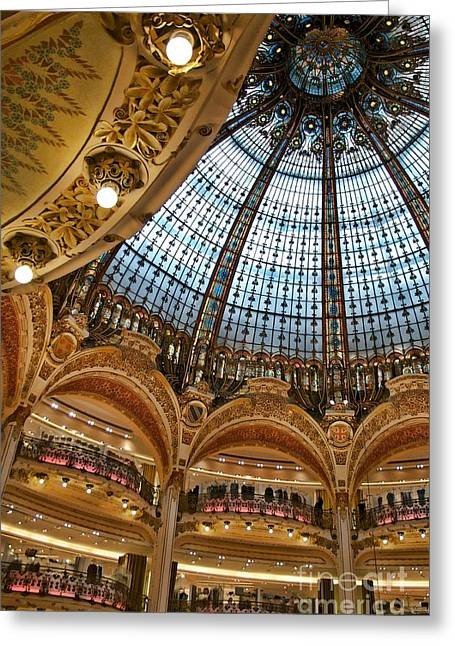 Gallery Lafayette Ceiling IIi Greeting Card by Louise Fahy