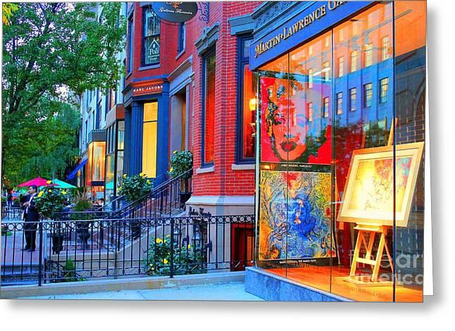 Gallery - Newbury St. Boston, Ma.valentina Averina Photography  Greeting Card by Valentina Averina
