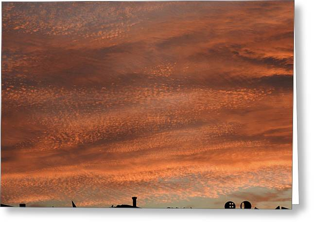 Greeting Card featuring the photograph Gallery Sunrise 2 by Mark Blauhoefer