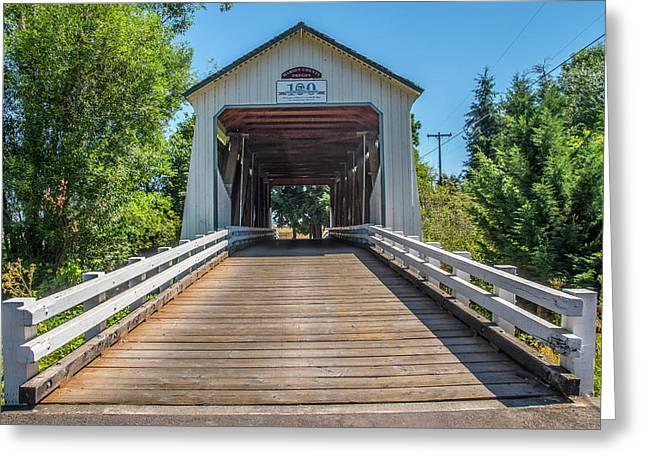 Gallon House Covered Bridge Greeting Card