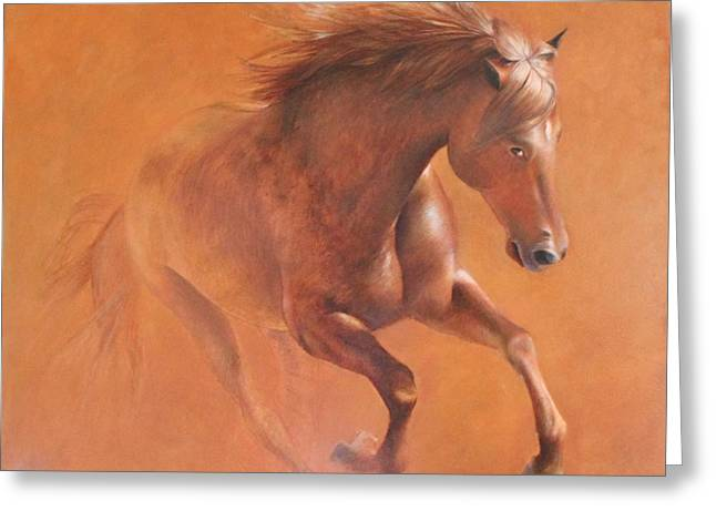Gallop In The Desert Greeting Card