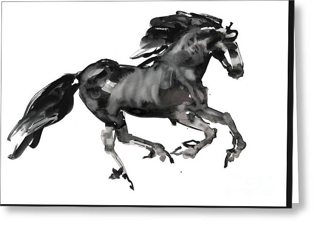 Gallop Greeting Card by Mark Adlington