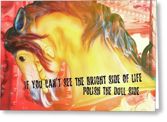 Galloper Quote Greeting Card by JAMART Photography