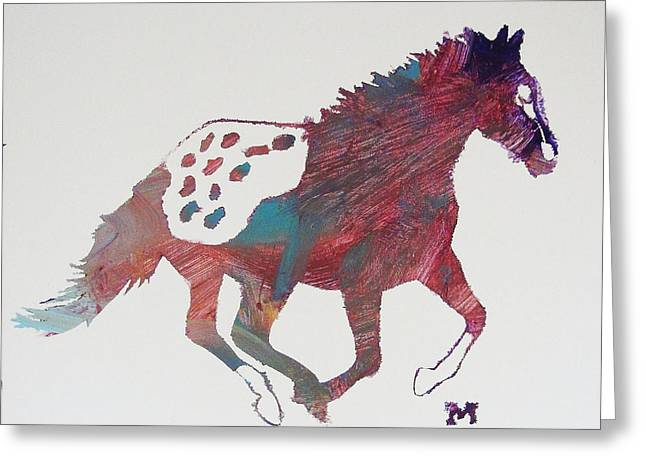 Galloping Apaloosa Greeting Card
