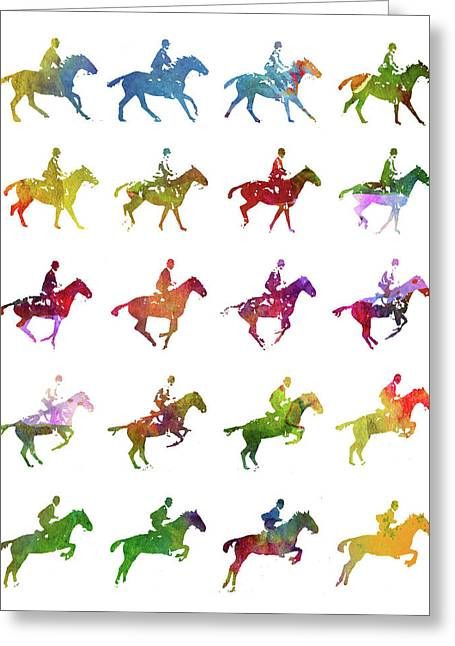Galloping Gait Terrestrial Locomotion - White Greeting Card by Aged Pixel
