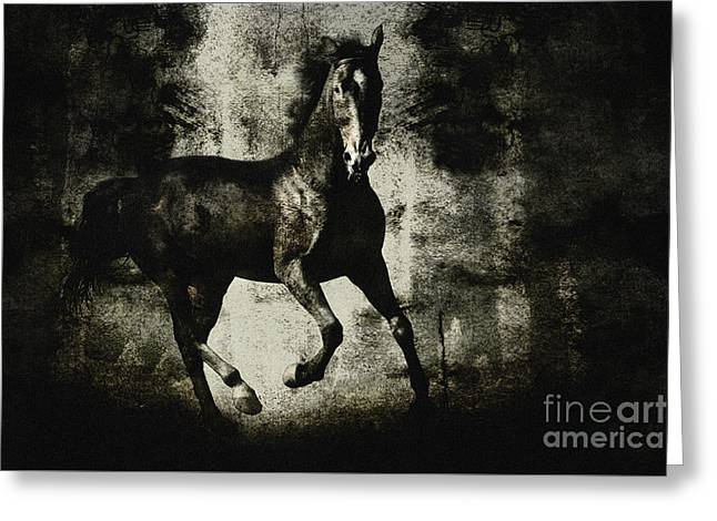Galloping Horse Artwork Greeting Card