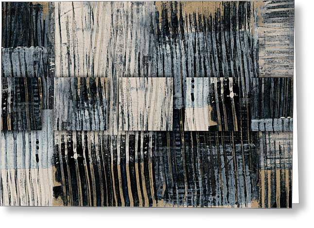 Greeting Card featuring the mixed media Galvanized Paint Number 1 Horizontal by Carol Leigh