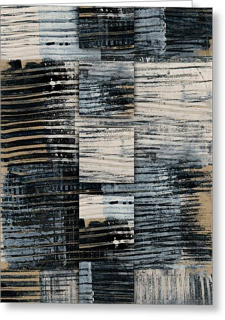 Galvanized Paint Number 1 Vertical Greeting Card by Carol Leigh