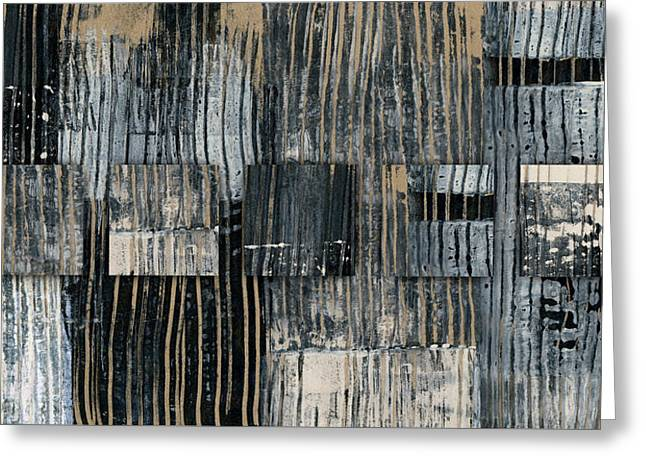 Galvanized Paint Number 2 Horizontal Greeting Card by Carol Leigh