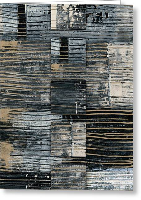 Galvanized Paint Number 2 Vertical Greeting Card by Carol Leigh