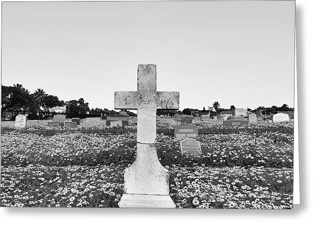 Galveston Cemetery Greeting Card by Steven Michael