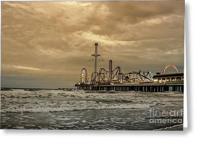 Galveston Island Evening Greeting Card