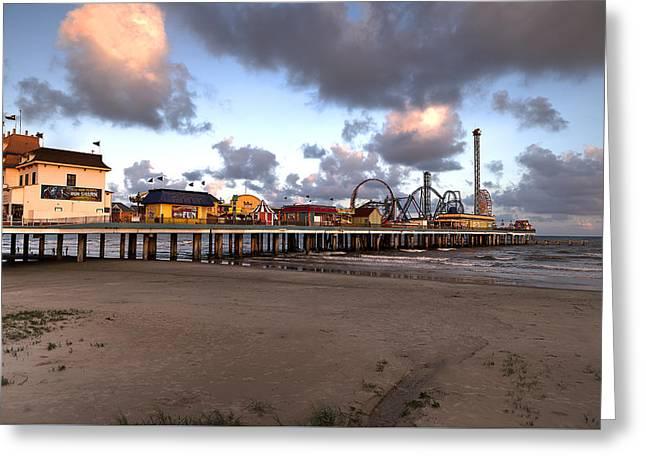 Galveston Island Historic Pleasure Pier Greeting Card