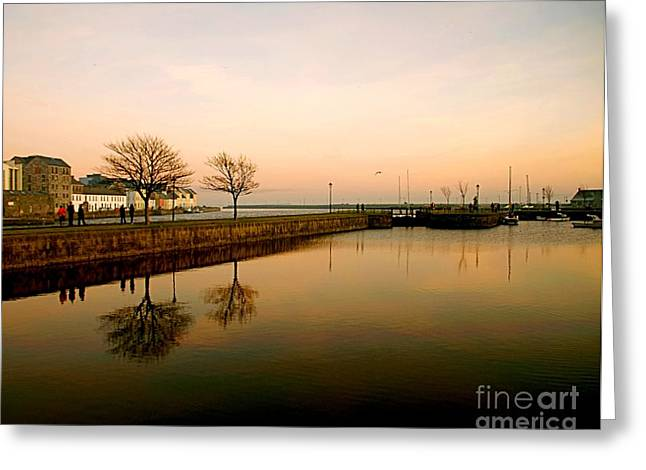 Galway Bay Sunset Greeting Card by Louise Fahy