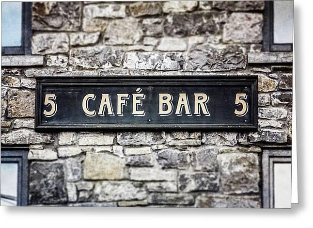 Galway Ireland Cafe Bar Greeting Card