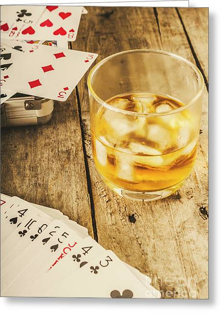 Gamblers Still Life Greeting Card by Jorgo Photography - Wall Art Gallery