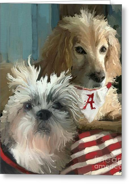 Game Day Greeting Card by Carrie Joy Byrnes