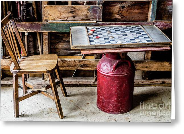 Game Of Checkers Greeting Card by M G Whittingham
