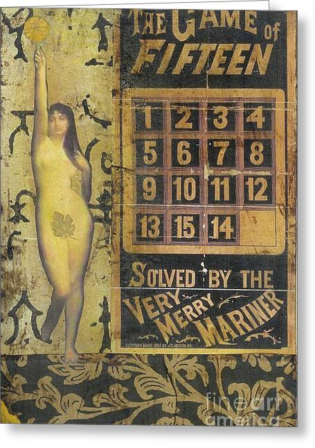 Greeting Card featuring the mixed media Game Of Fifteen by Desiree Paquette