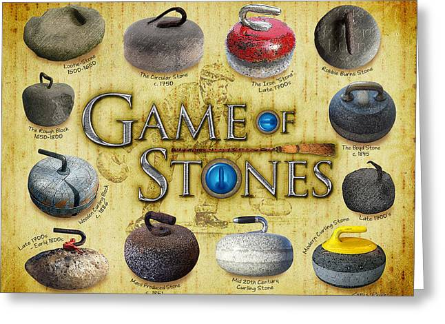 Game Of Stones Greeting Card by Chris Rhynas