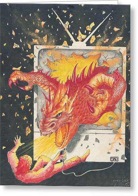 Game Over Greeting Card by Julian  B