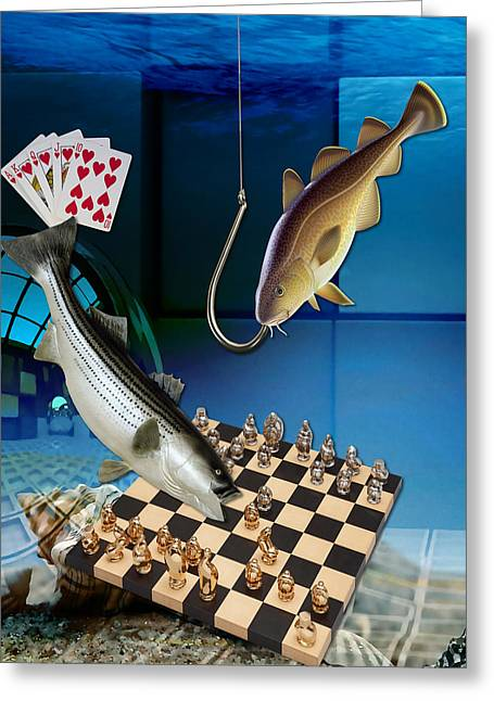 Game Playing Greeting Card