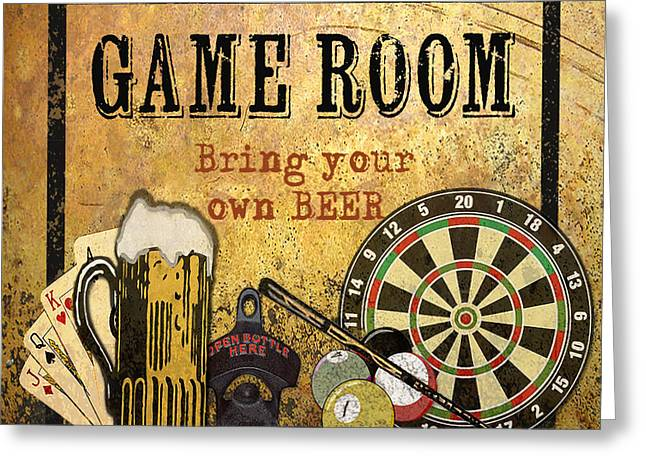 Game Room-jp2739 Greeting Card by Jean Plout
