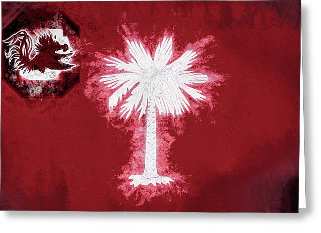 Gamecocks South Carolina State Flag Greeting Card