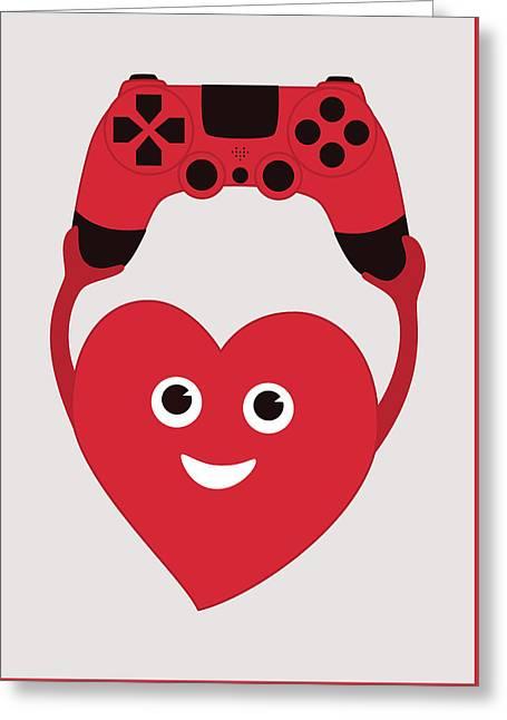 Gamer Heart Greeting Card