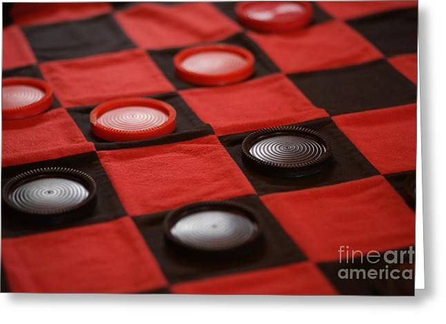 Games Greeting Card by Linda Shafer