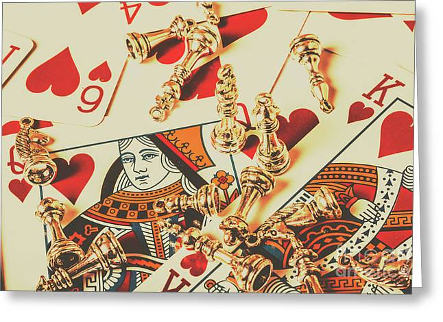 Games Of Love Greeting Card