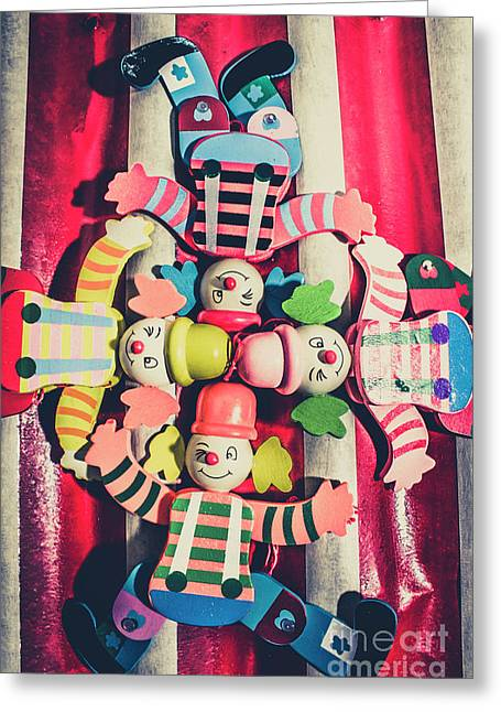 Games Room Of Wooden Circus Play Greeting Card