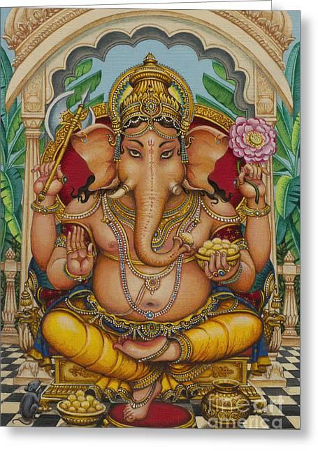 Ganapati Darshan Greeting Card