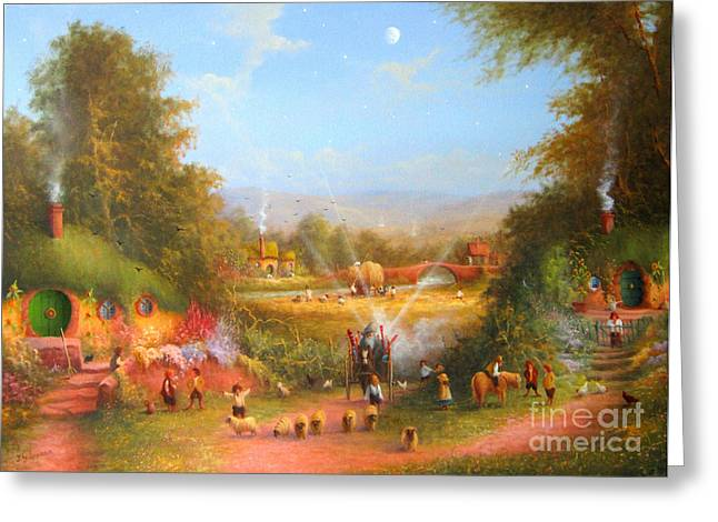 Gandalf's Return Fireworks In The Shire. Greeting Card by Joe  Gilronan