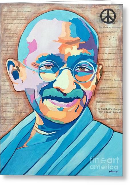Gandhi Greeting Card by Venus