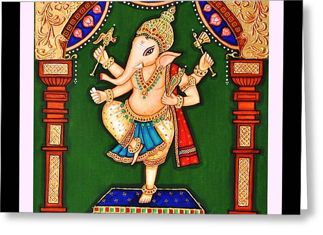 Ganesh The Elephant Headed Deity Greeting Card
