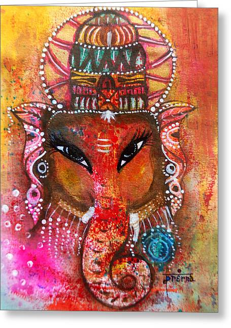 Ganesha Greeting Card by Prerna Poojara