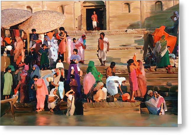 Ganges Greeting Card by Kurt Van Wagner