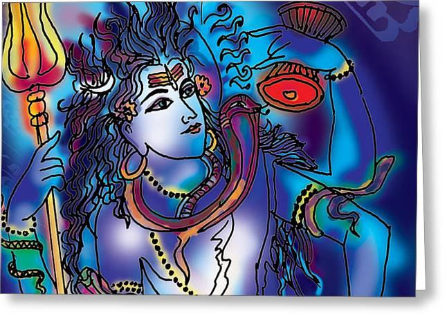 Gangeshvar Shiva Greeting Card