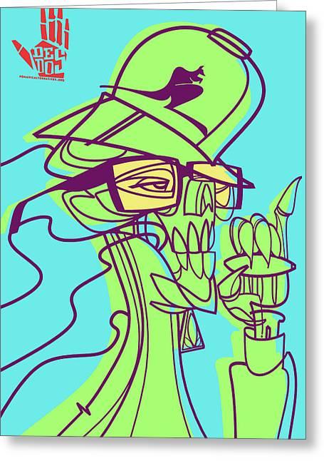 Weed Digital Greeting Cards - Ganja man Greeting Card by Nelson Dedos Garcia