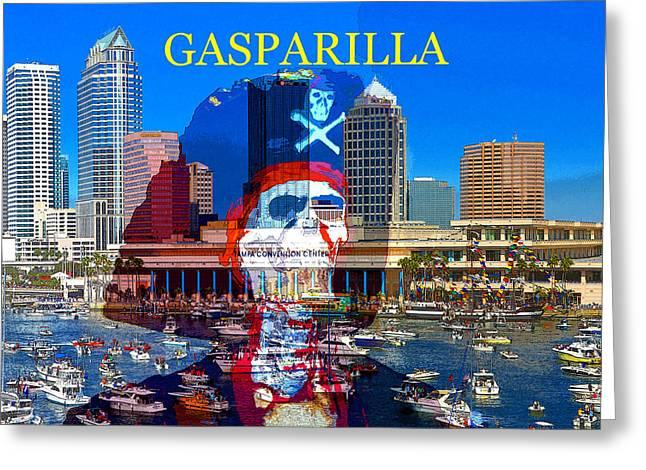 Gaparilla Invasion Poster Z Greeting Card