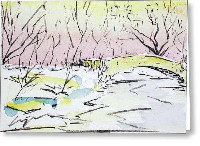 Gapstow In Winter Greeting Card by Chris Coyne