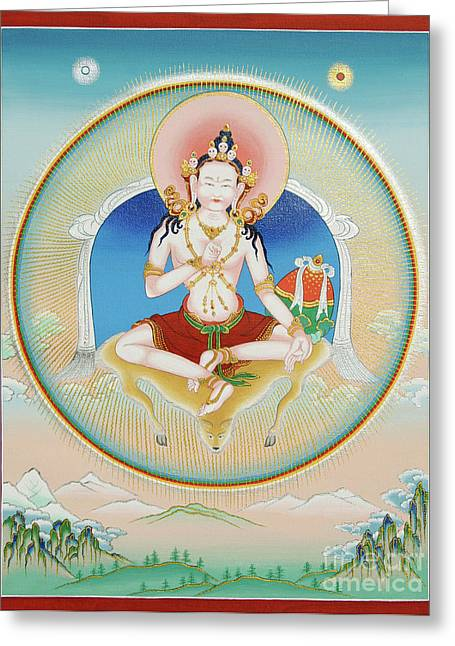 Sun Rays Paintings Greeting Cards - Garab Dorje Greeting Card by Sergey Noskov