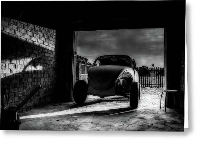 Garage At Sunset Greeting Card